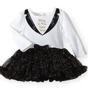 Bling in the new year tutu dress